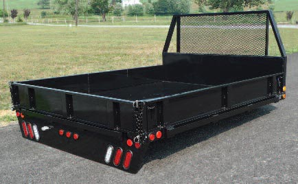 Drop Down Hitch >> Contractor / Platform Pickup Bodies - SH Truck Bodies
